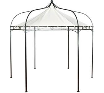 sechseckiger Pavillon MANLEY aus Metall inkl. wasserdichtem Dach (Höhe 280 cm, Breite 280 cm)