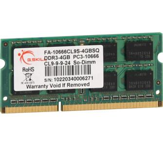 G.Skill SO-DIMM-Speicher SO-DIMM 4 GB DDR3-1333