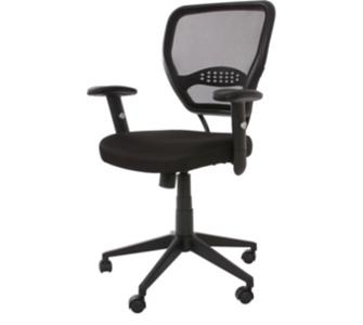 heute-wohnen Profi-Bürostuhl Seattle Chefsessel Drehstuhl, 150kg belastbar, schwarz
