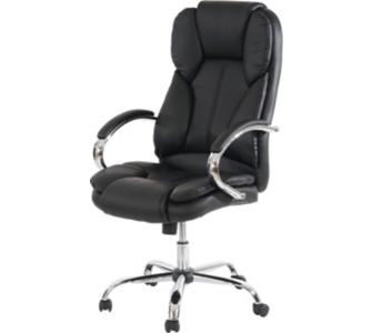 heute-wohnen Profi-Bürostuhl Kansas XXL Chefsessel Drehstuhl US-Version, 150kg belastbar, Kunstleder schwarz