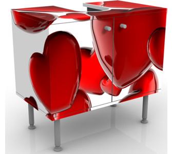 Design Waschtisch Herzballons  Waschbeckenunterschrank, Bad Möbel, Waschtische, Romantik, Liebe, Gefühle, Valentinstag, Schwerelos