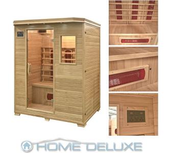 Home Deluxe Redsun L Infrarotsauna Infrarotkabine Sauna, inkl. komplet