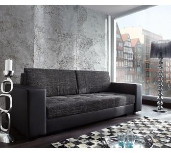 Couch Giorgio Schwarz 250x100 Schlafsofa inklusive Bettkasten