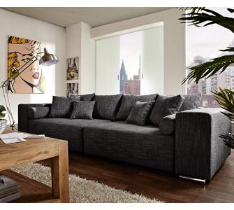DeLife Couch Marbeya Schwarz 290x110