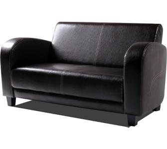 ANTON Sofa 2-Sitzer Antikbraun, Füsse nussbaumfarben