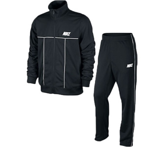 NIKE Trainingsanzug Breakline Warmup Piped Warm Up Herren Jogginganzug schwarz