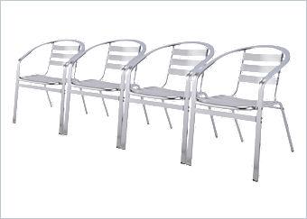 alu bistro stapelstuhl 4er set of plus 51772000. Black Bedroom Furniture Sets. Home Design Ideas