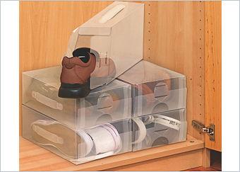 Wenko Schuhboxen mit Tragegriff, 5-tlg.