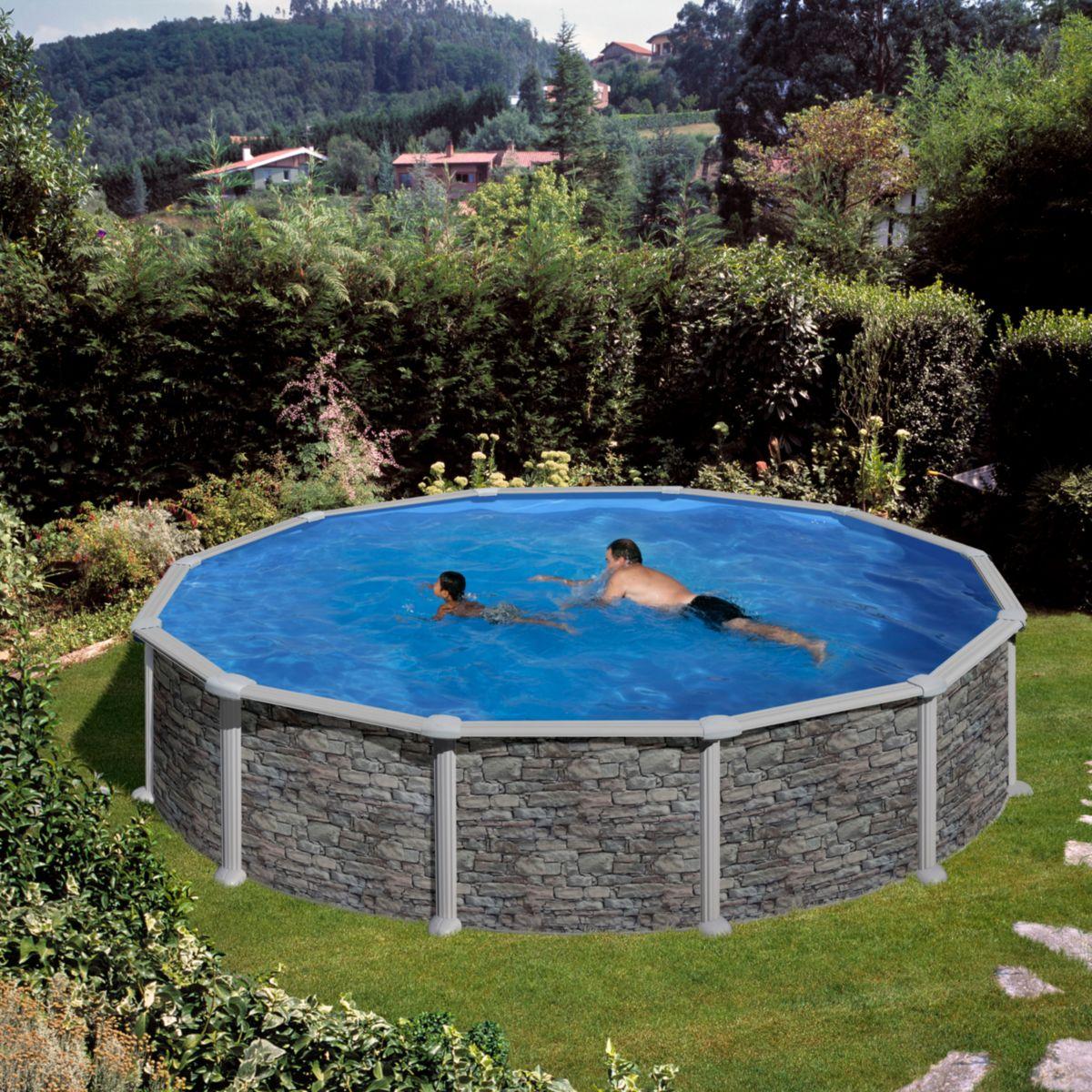 Gre Corcega Dream Pool rund Ø 460 x 132 cm Stahlwandbecken-Set