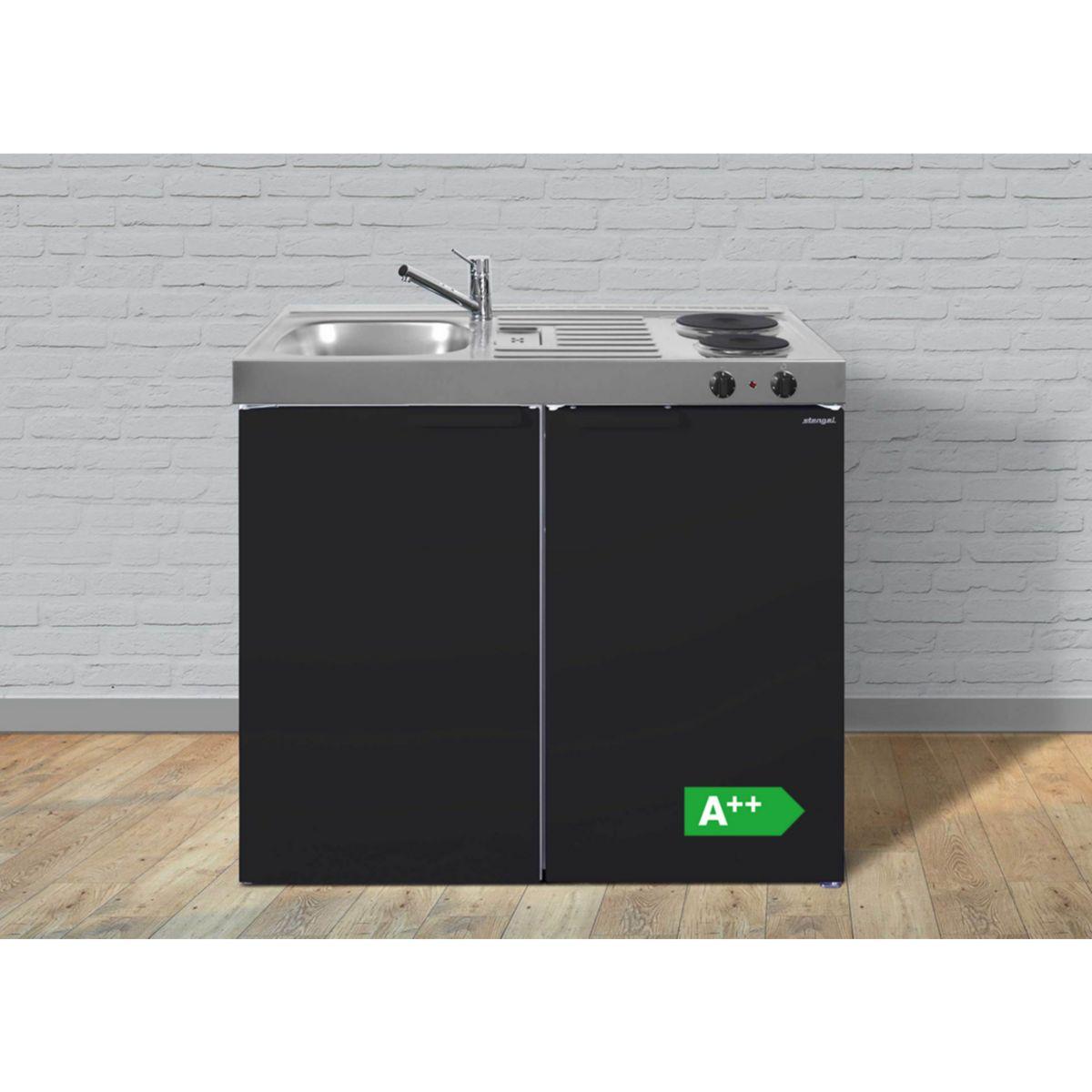 Stengel Küchen Kitchenline MKSM 100 Schwarz matt - Elektrokochfeld links