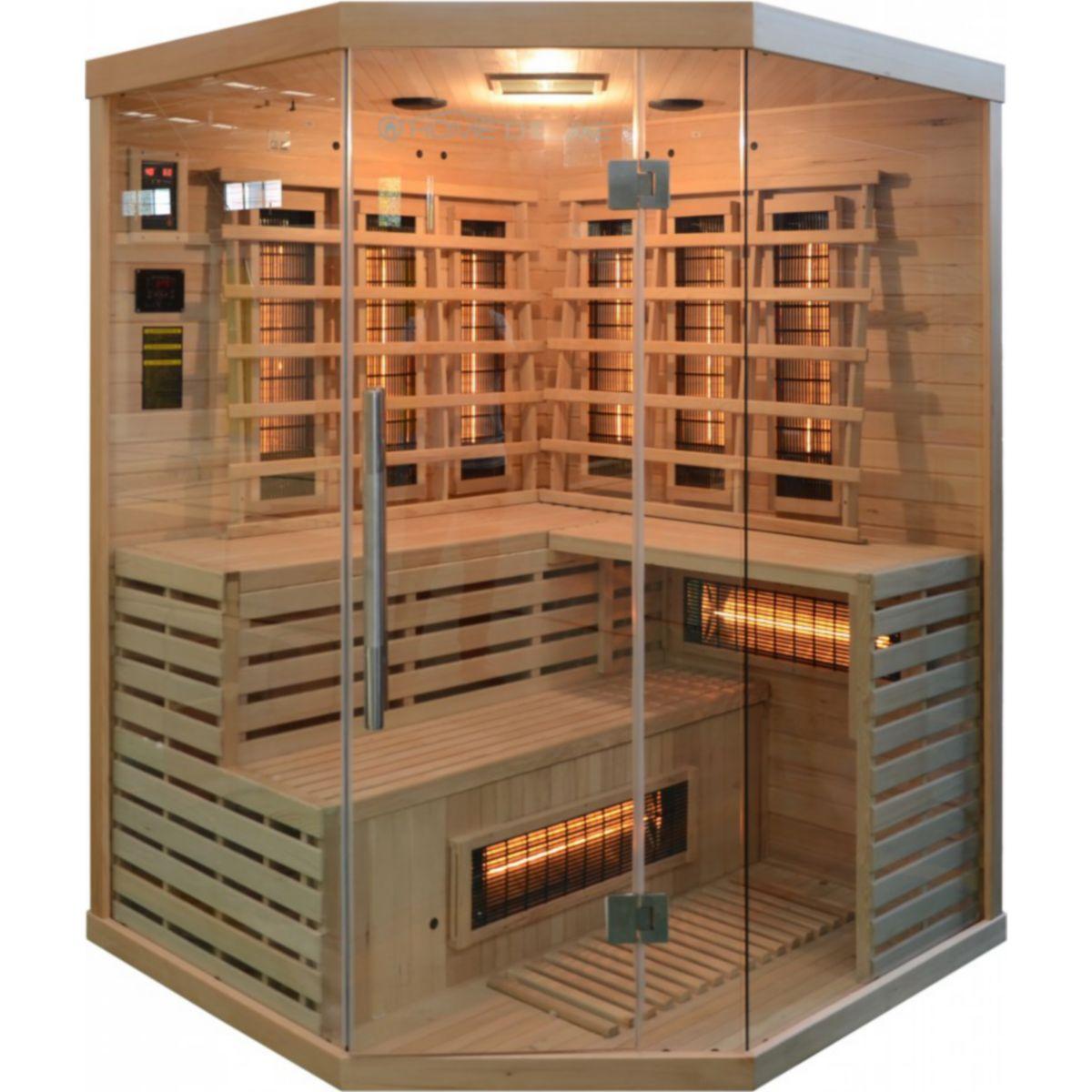 HOME DELUXE Infrarotkabine »Sahara XXL«, B/T/H: 150/150/200 cm, für bis zu 4 Personen jetztbilligerkaufen
