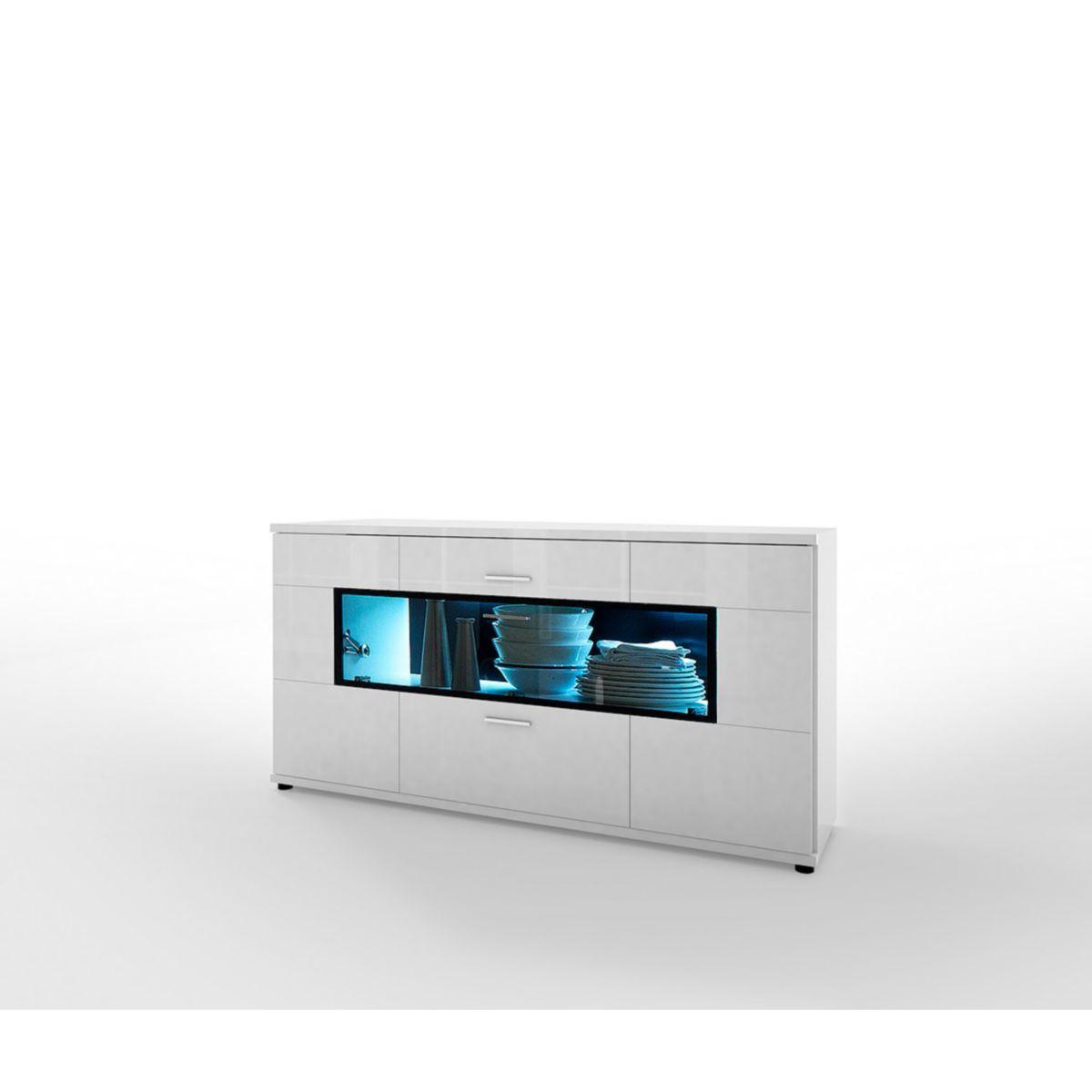 Sideboard Hochglanz weiß / schwarz jetztbilligerkaufen