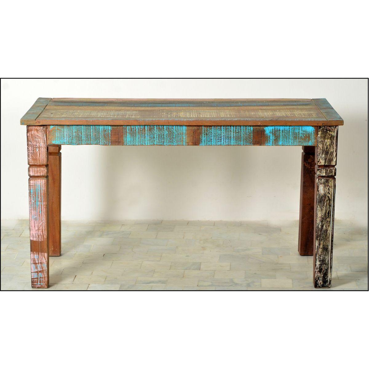 Esstisch 140 x 70 cm echt Altholz bunt - broschei