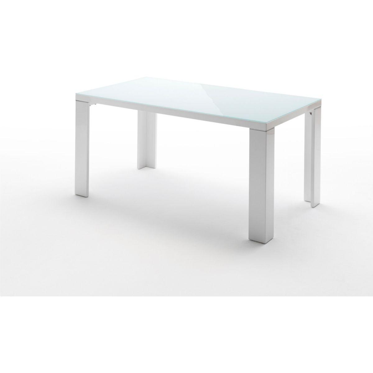 Esstisch 180 x 90 cm weiss hochglanz/ Glas jetztbilligerkaufen