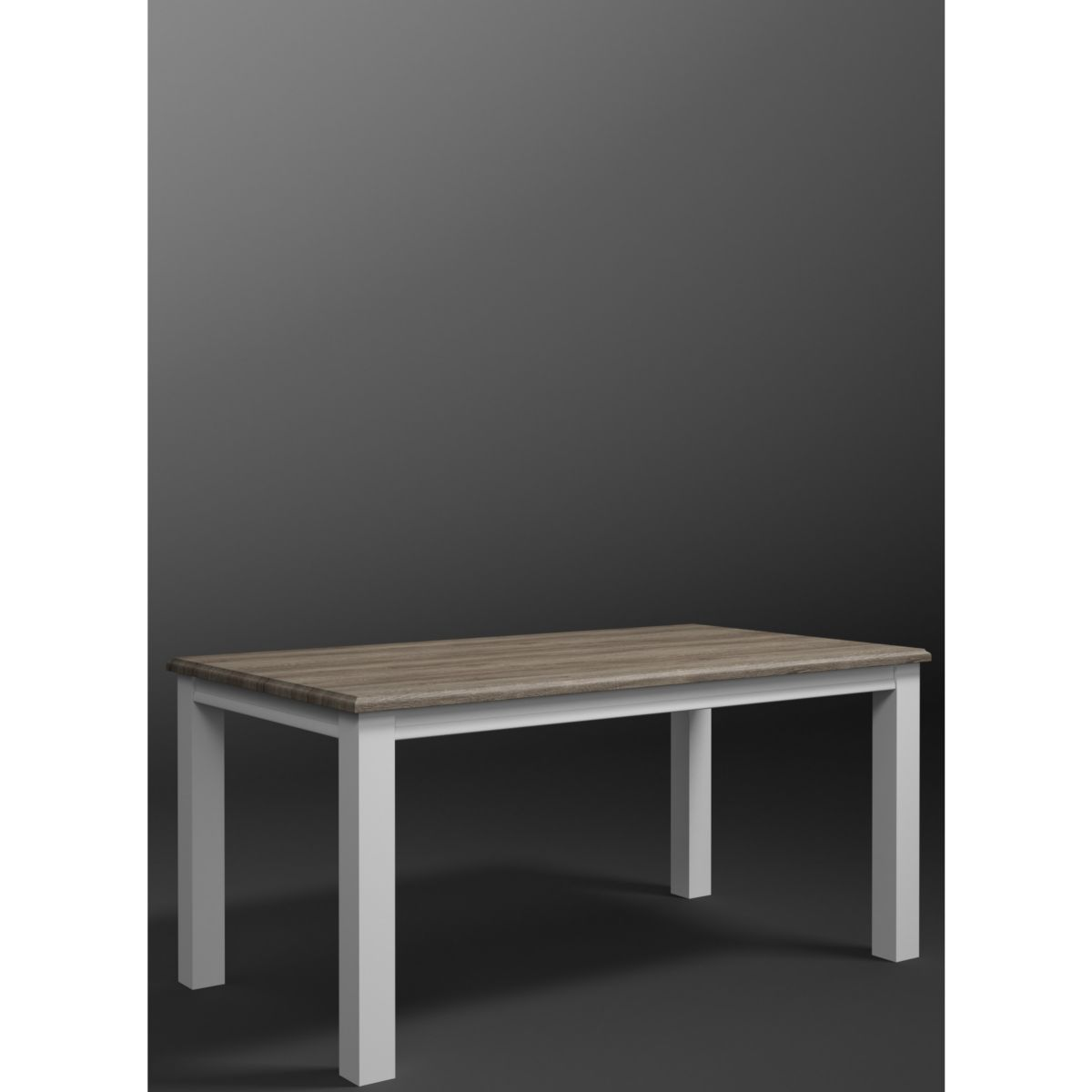 Esstisch 160 x 90 cm weiss/ Sanremo Eiche