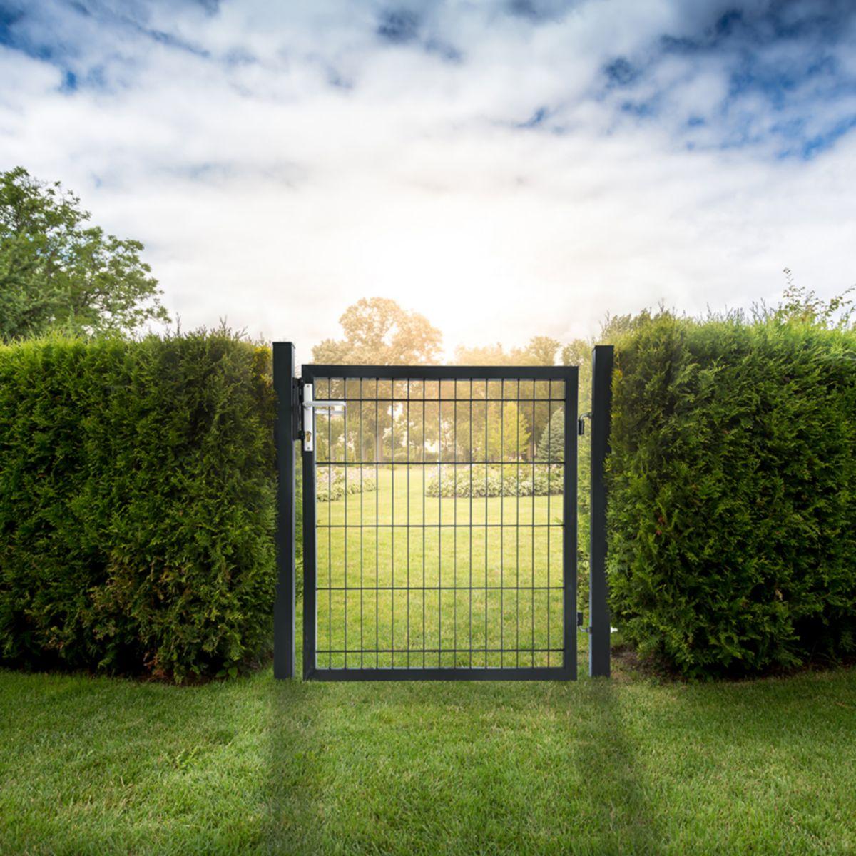 HOME DELUXE Gartentor , für Doppelstabmatten, HxL: 0,8x1,0 Meter jetztbilligerkaufen