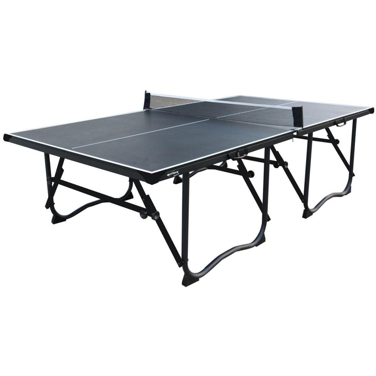 L. A. Sports Tischtennisplatte 4-fach faltbar mit Rollen & Netzgarnitur