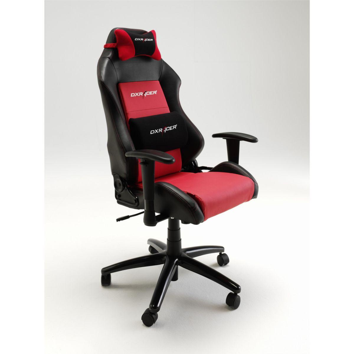 DX Racer Bürostuhl Computerstuhl Drehstuhl Gamer Chair Kunstleder schwarz/ rot jetztbilligerkaufen
