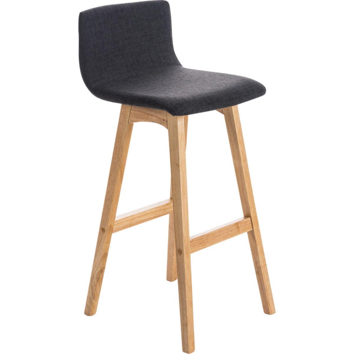 CLP Barhocker TAUNUS mit Stoffbezug und hochwertiger Polsterung | Tresenhocker einer Sitzhöhe von 72 cm Thekenhocker Rückenlehne Fußstütze jetztbilligerkaufen