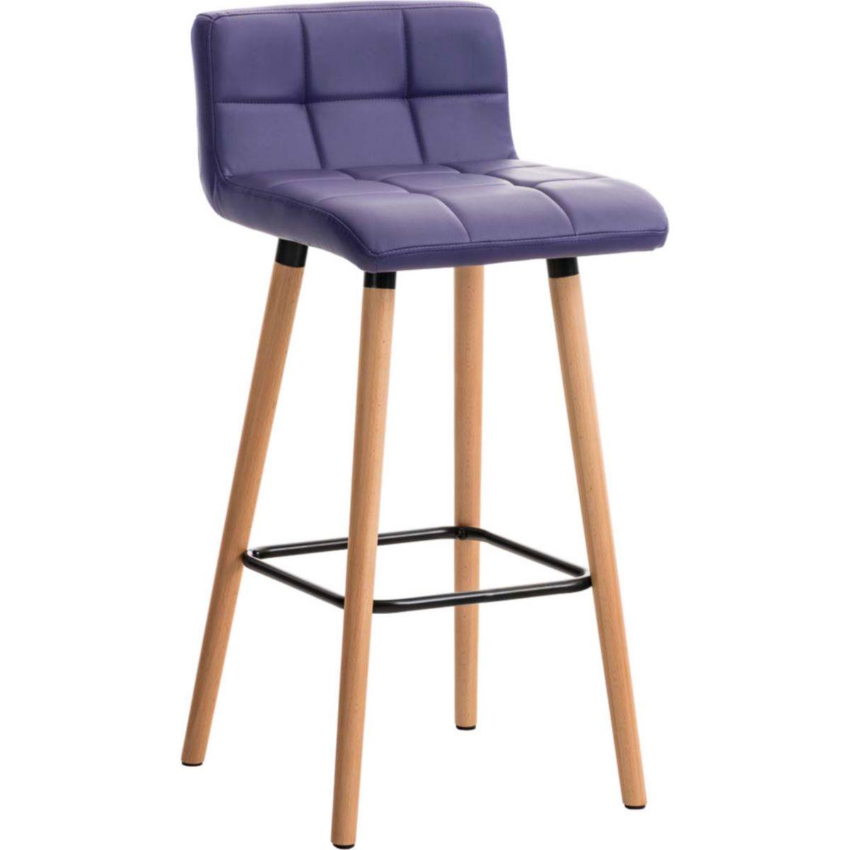 CLP Barhocker LINCOLN mit Kunstlederbezug und Holzgestell I Thekenhocker Rückenlehne Fußstütze Gepolsterter Barstuhl einer Sitzhöhe von 75 cm 4251380415526 blauer-urlaub.de