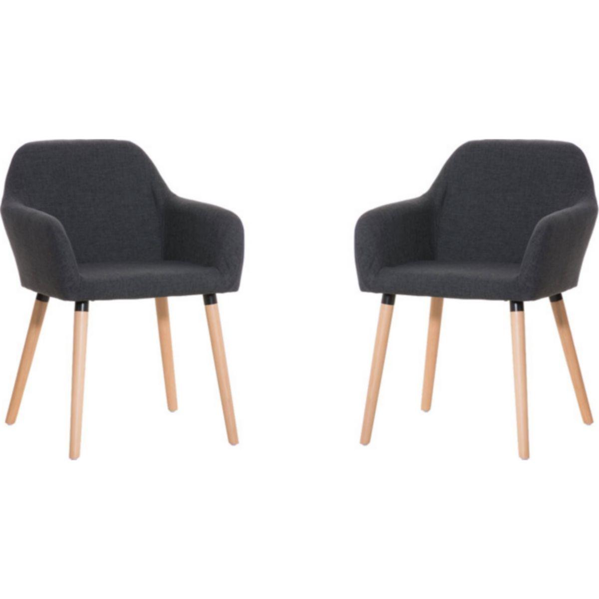 CLP 2x Besucherstuhl ACHAT Sitzfläche gut gepolstert, Stoff-Bezug, Holzgestell jetztbilligerkaufen