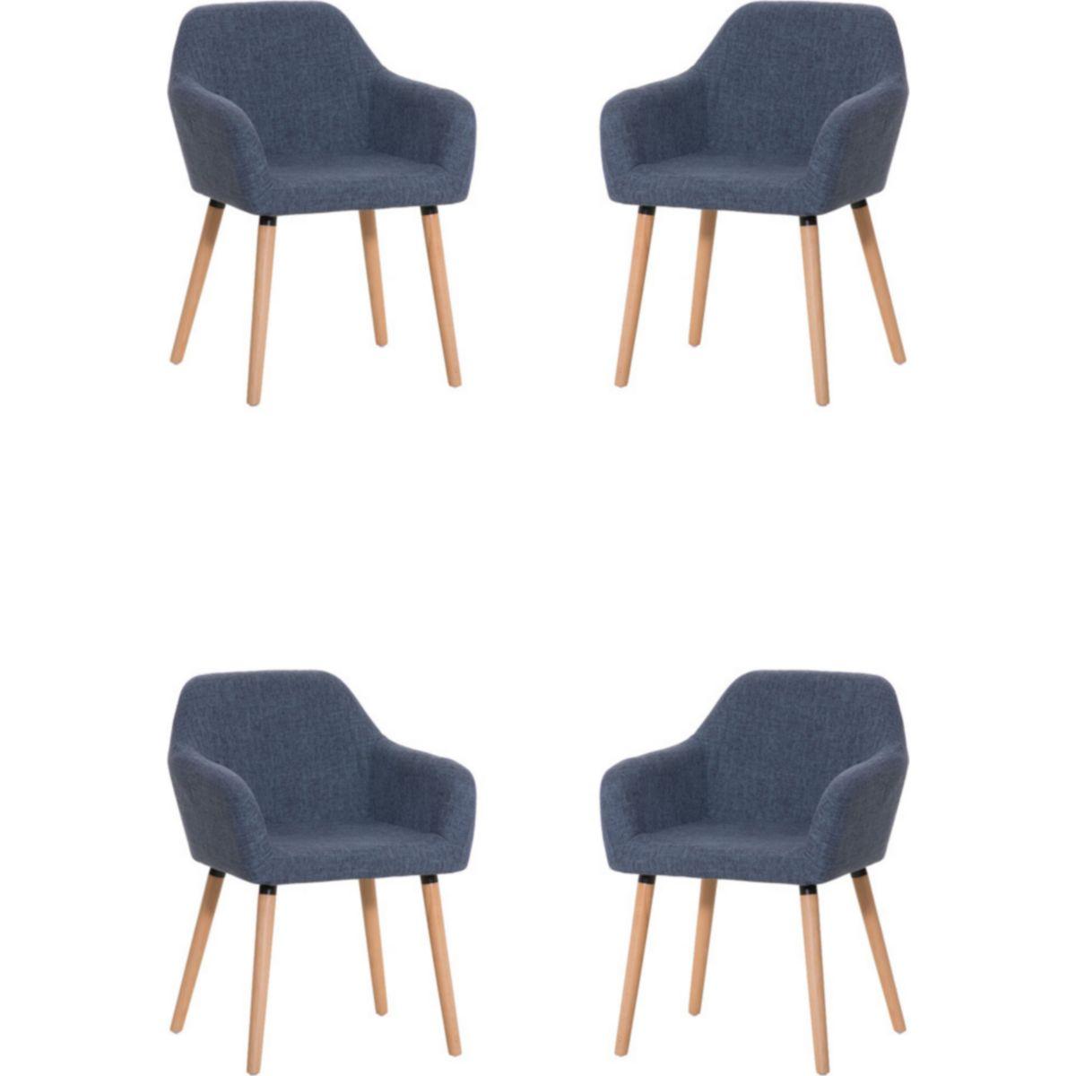 CLP 4 x Besucher-Stuhl ACHAT, Holzgestell, Stoffbezug, gut gepolsterter Sitzfläche, bis zu Farben wählbar jetztbilligerkaufen