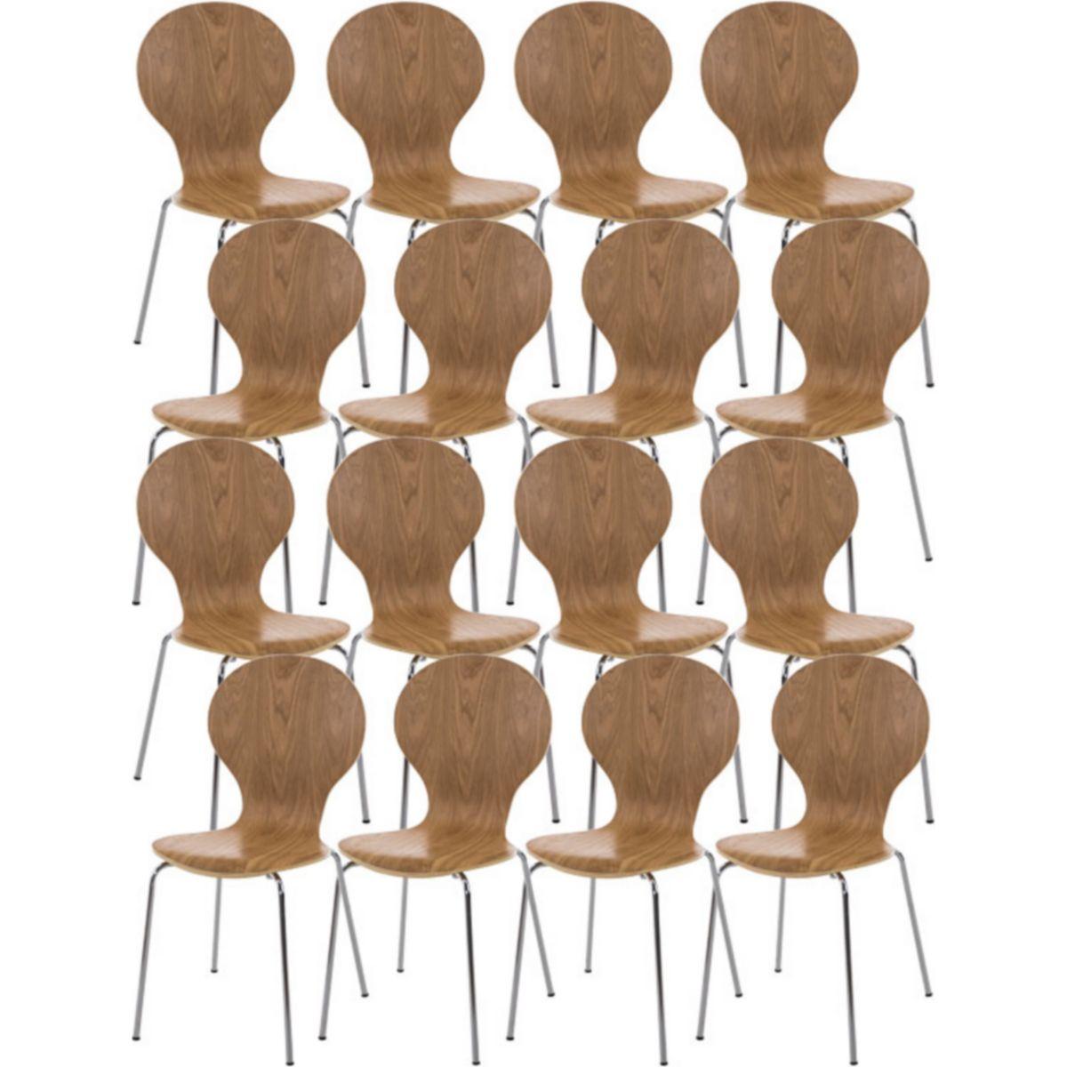 16x robuster und pflegeleichter Stapelstuhl DIEGO mit Holzsitz & ergonomisch geformter Sitzfläche, bis zu 12 Farben wählbar jetztbilligerkaufen