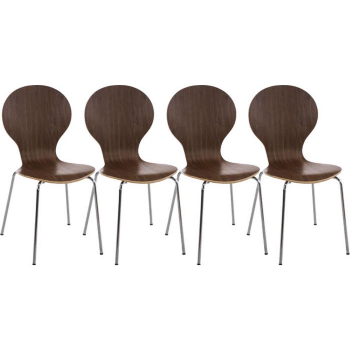 4 x Stapelstuhl DIEGO mit Holzsitz & ergonomisch geformter Sitzfläche, bis zu 12 Farben wählbar jetztbilligerkaufen