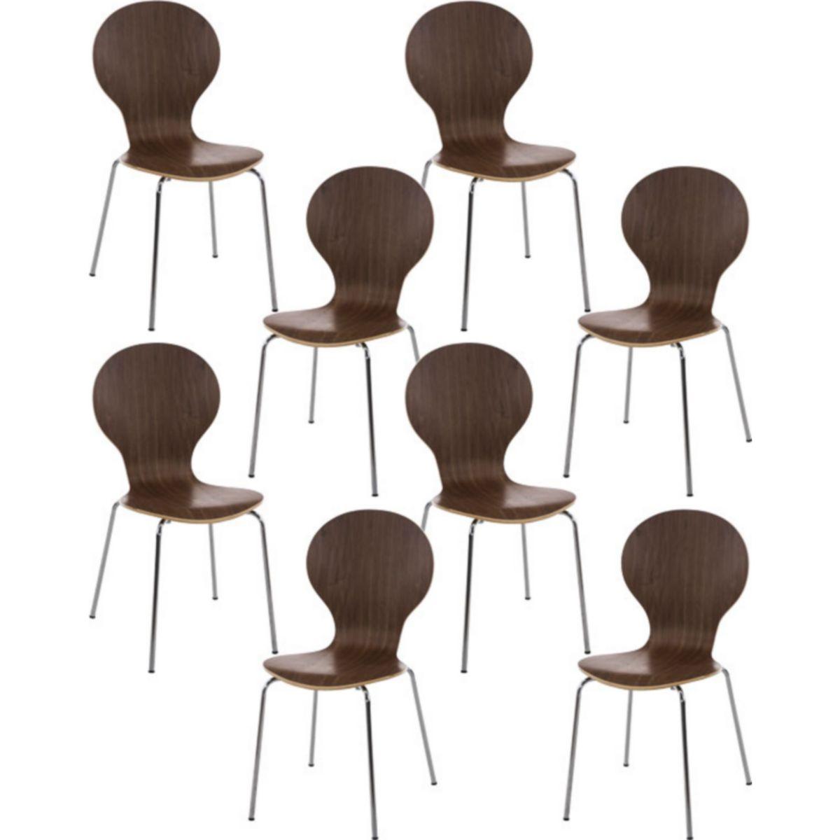 8x robuster und pflegeleichter Stapelstuhl DIEGO mit Holzsitz & ergonomisch geformter Sitzfläche, bis zu 12 Farben wählbar jetztbilligerkaufen