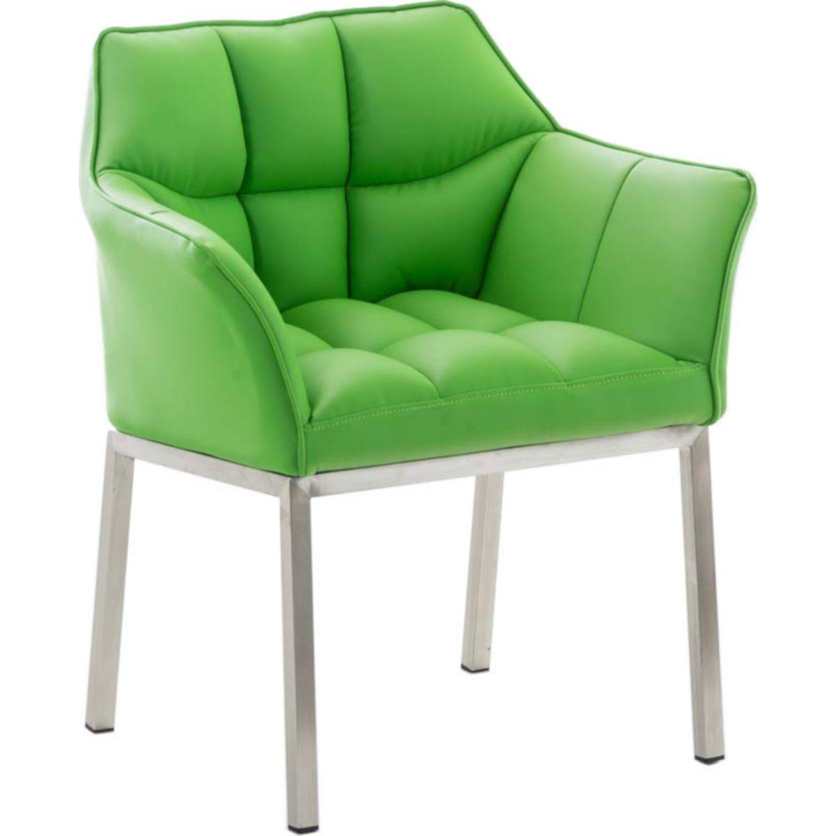 CLP Esszimmerstuhl OCTAVIA mit Armlehne, Clubsessel Kunstlederbezug, Relaxsessel hochwertiger Polsterung, in verschiedenen Farben erhältlich, Sitzhöhe 49 cm jetztbilligerkaufen