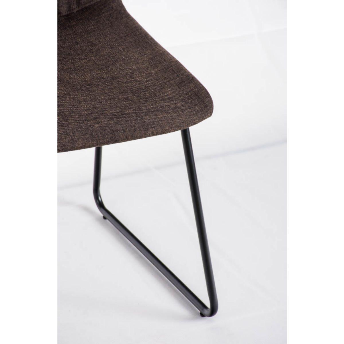 CLP Hochlehner Küchen-Stuhl FRANCIS gepolstert, Stoff-Bezug, Metallgestell schwarz, Esszimmerstuhl, Besucherstuhl modern jetztbilligerkaufen