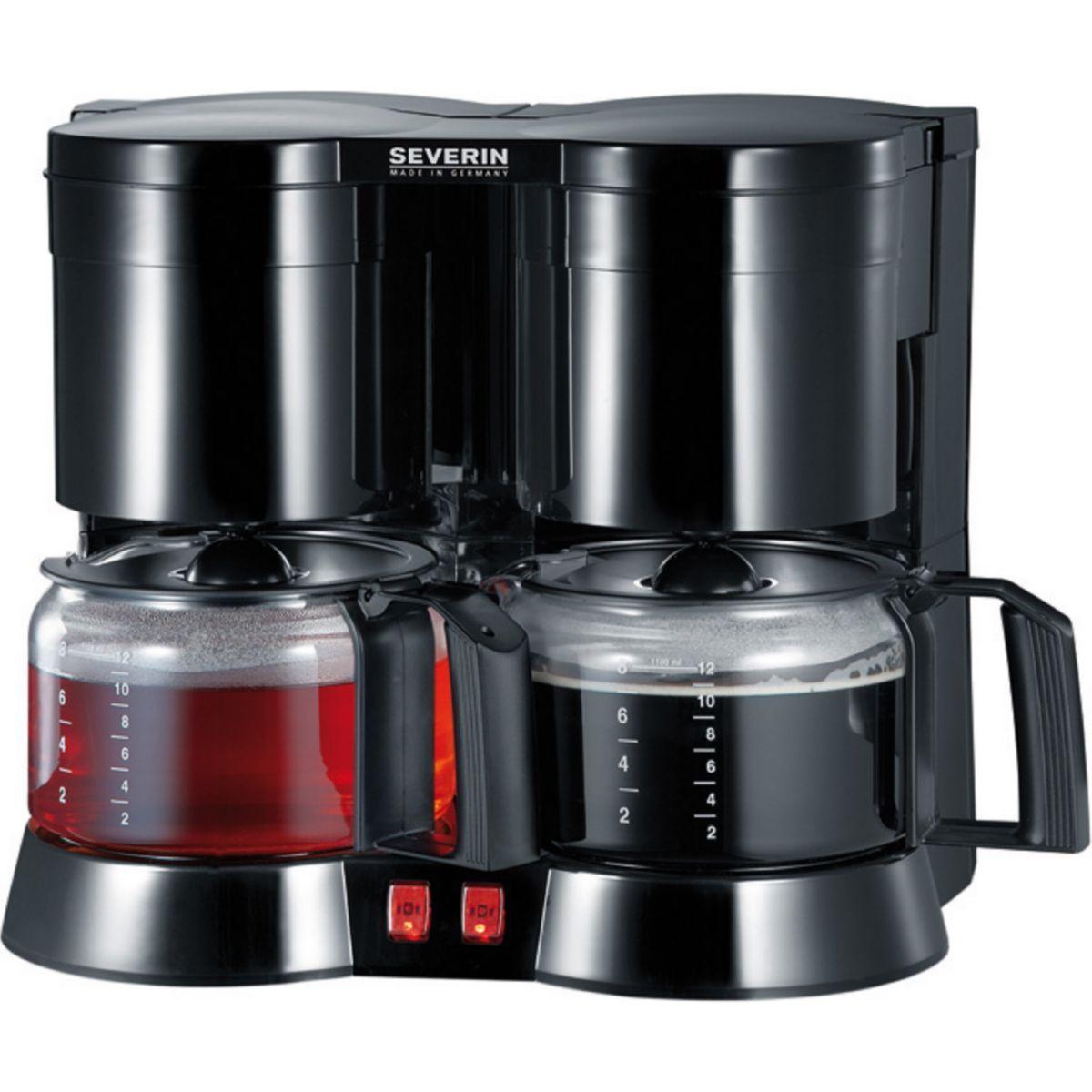 SEVERIN Severin Filterkaffeemaschine Duo-Kaffeeautomat KA 5802, 1,2l Kaffeekanne, Papierfilter 1x4 jetztbilligerkaufen