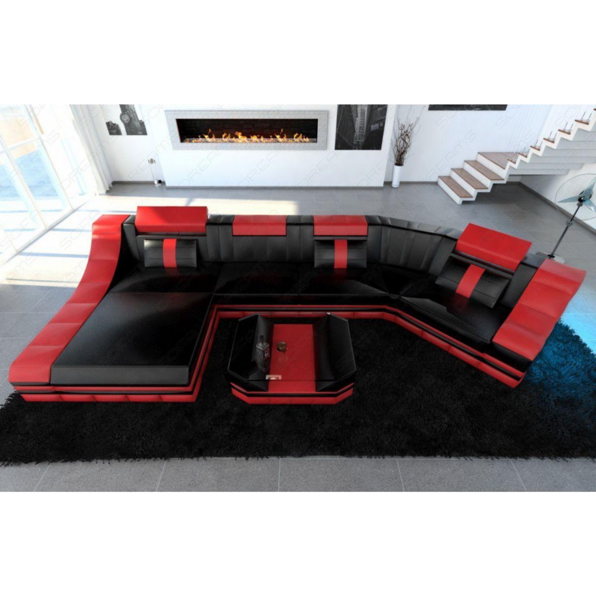 Sofa Dreams Luxus Wohnlandschaft TURINO C-Form mit LED Beleuchtung jetztbilligerkaufen