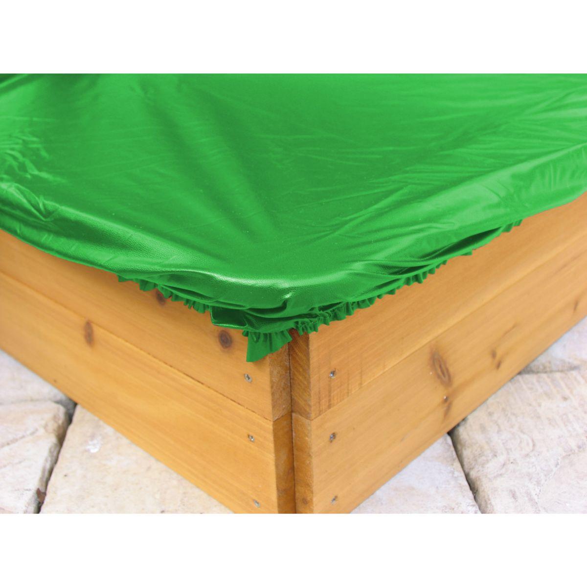 Grasekamp Sandkastenabdeckung Plane für Sandkasten sechseckig Ø 190cm PVC Grün jetztbilligerkaufen