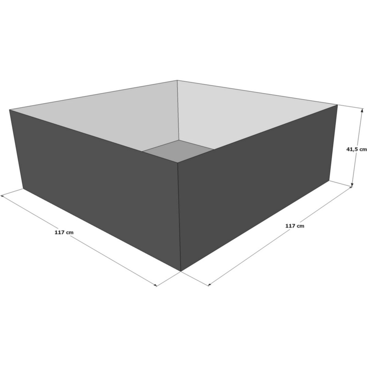 Hochteich Teich Einsatz 117x117 cm jetztbilligerkaufen