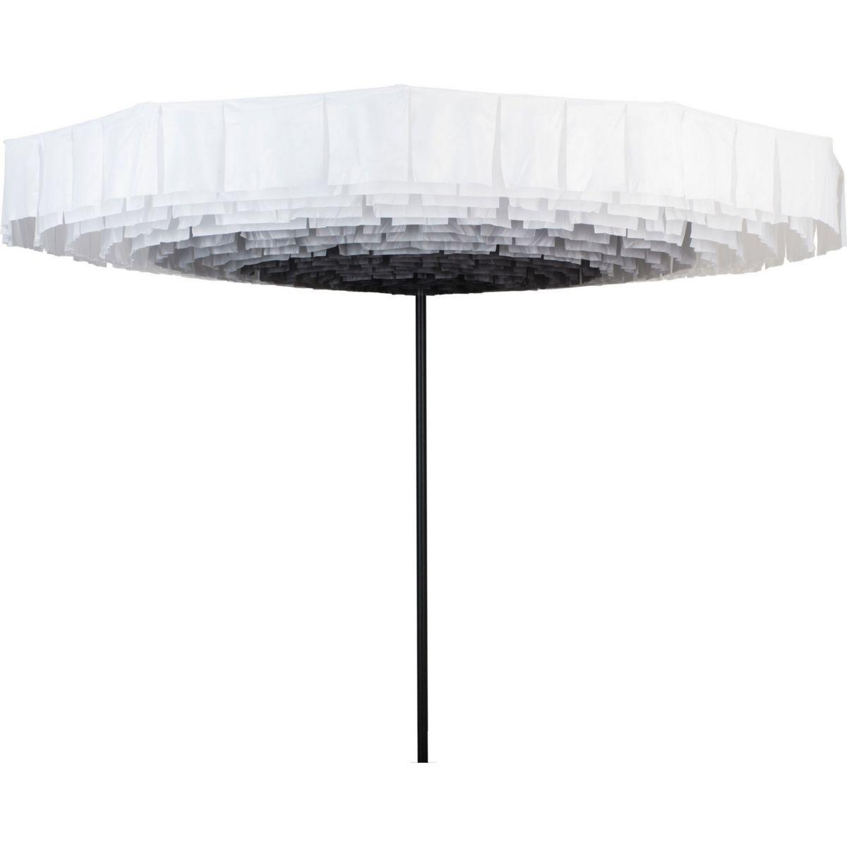 Sonnenschirm Premium Bloom Ø 300 cm Weiß / Schwarz jetztbilligerkaufen