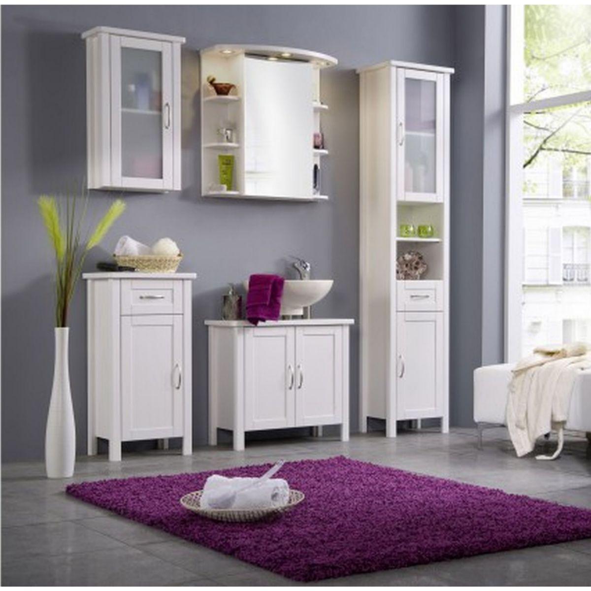Cats Collection Badmöbel Set Kiefer massiv weiß gewachst Badezimmermöbel 5 teilig komplett jetztbilligerkaufen