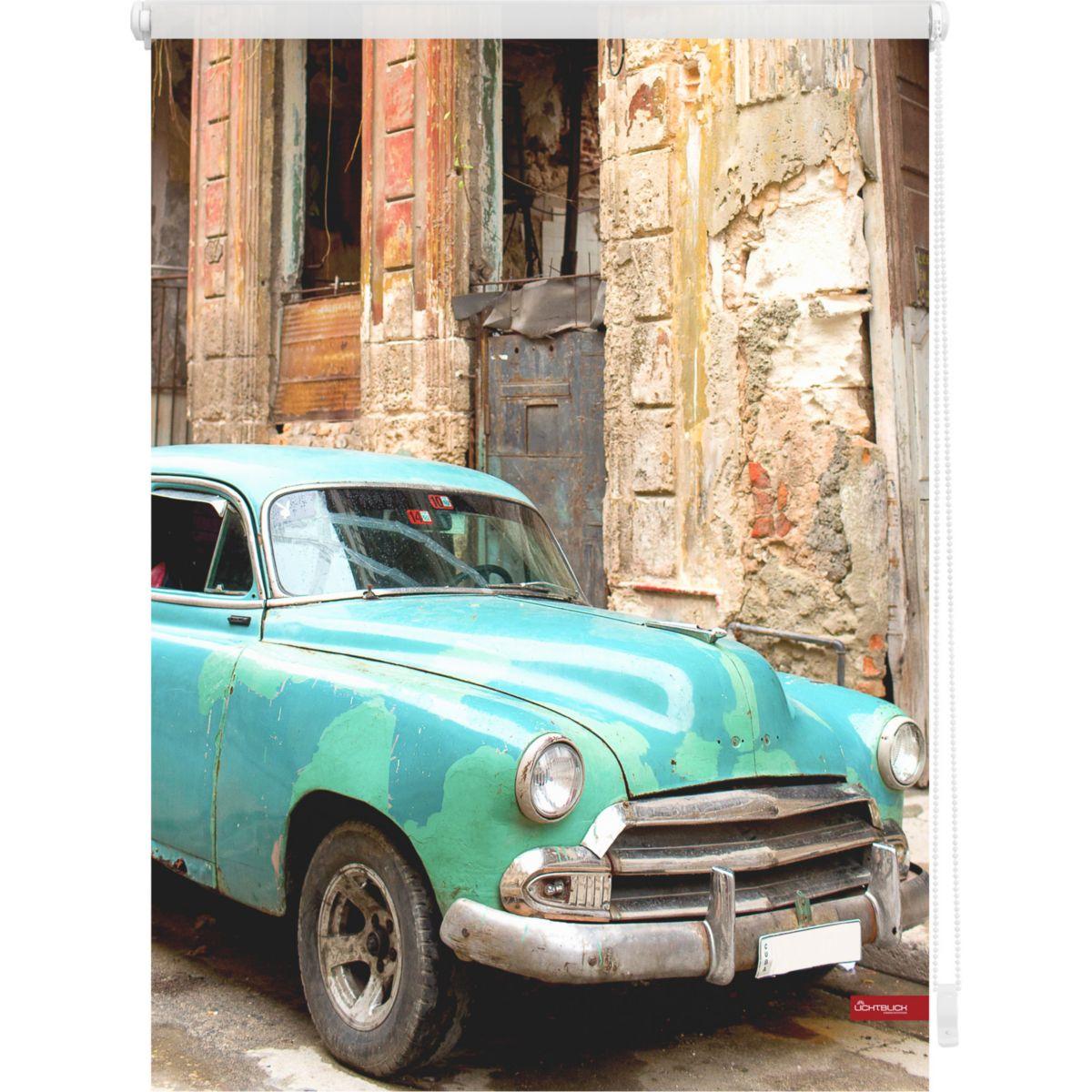 Lichtblick Rollo Klemmfix, ohne Bohren, blickdicht, Kuba - Türkis Braun