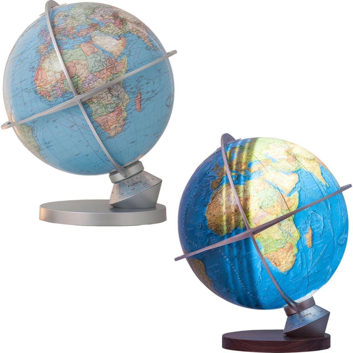 Columbus Leuchtglobus Planet Erde - D 340 mm OID versch. Varianten Farbe: Messing jetztbilligerkaufen
