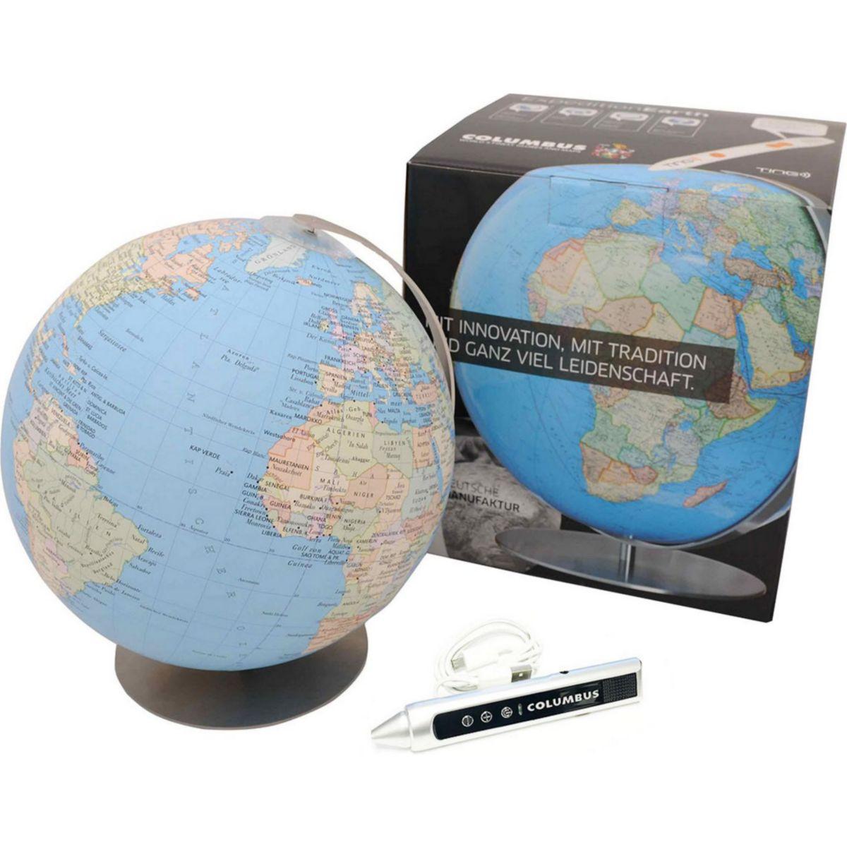 Columbus Expedition Erde, 230 mm, Tischglobus, OID, mit und ohne Audio-Stift Größe: Mit jetztbilligerkaufen