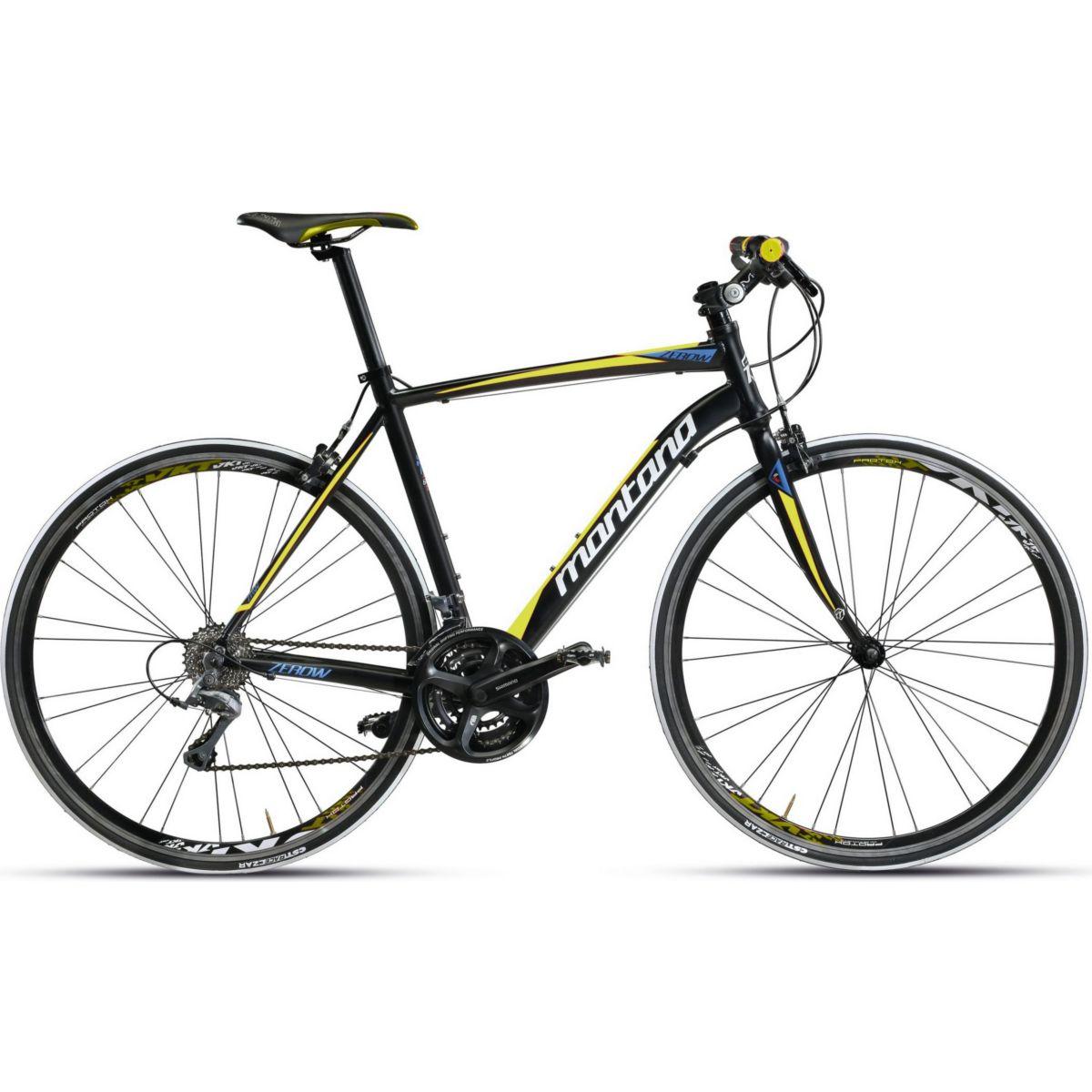 28 Zoll Montana Zerow Comfort Herren Rennrad Carbongabel 24 Gang schwarz-gelb, 58cm jetztbilligerkaufen