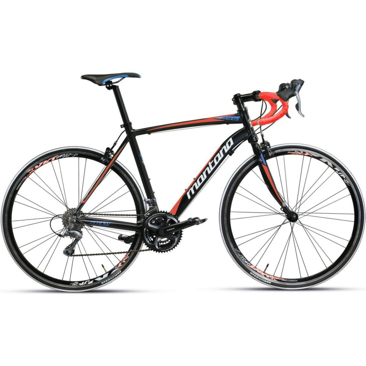 28 Zoll Rennrad 24 Gang Montana Zerow schwarz-rot, 48cm jetztbilligerkaufen