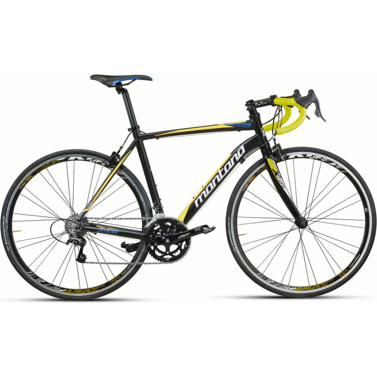 28 Zoll Montana Zerow Herren Rennrad Campagnolo 20 Gang Carbongabel schwarz-gelb, 58cm - broschei