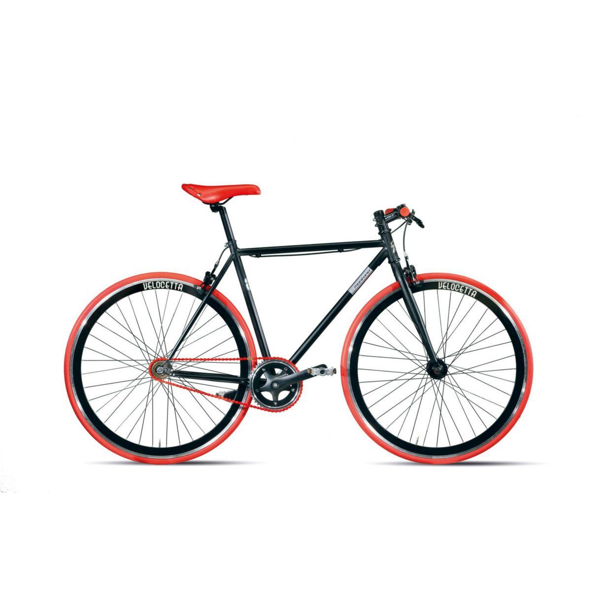 28 Zoll Montana Pista Fixed Gear Fahrrad schwarz-rot, 52cm jetztbilligerkaufen