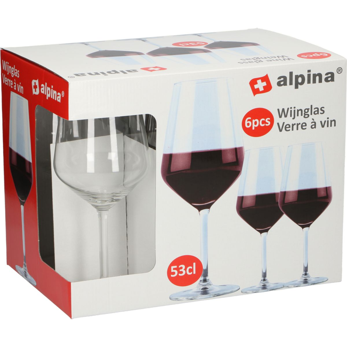 Alpina Rotweinglas 6er-Set - broschei