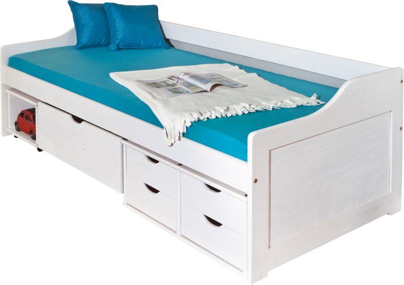 Link´s Komfortbett Floro 200x90cm Weiß incl. 1 Rollrost