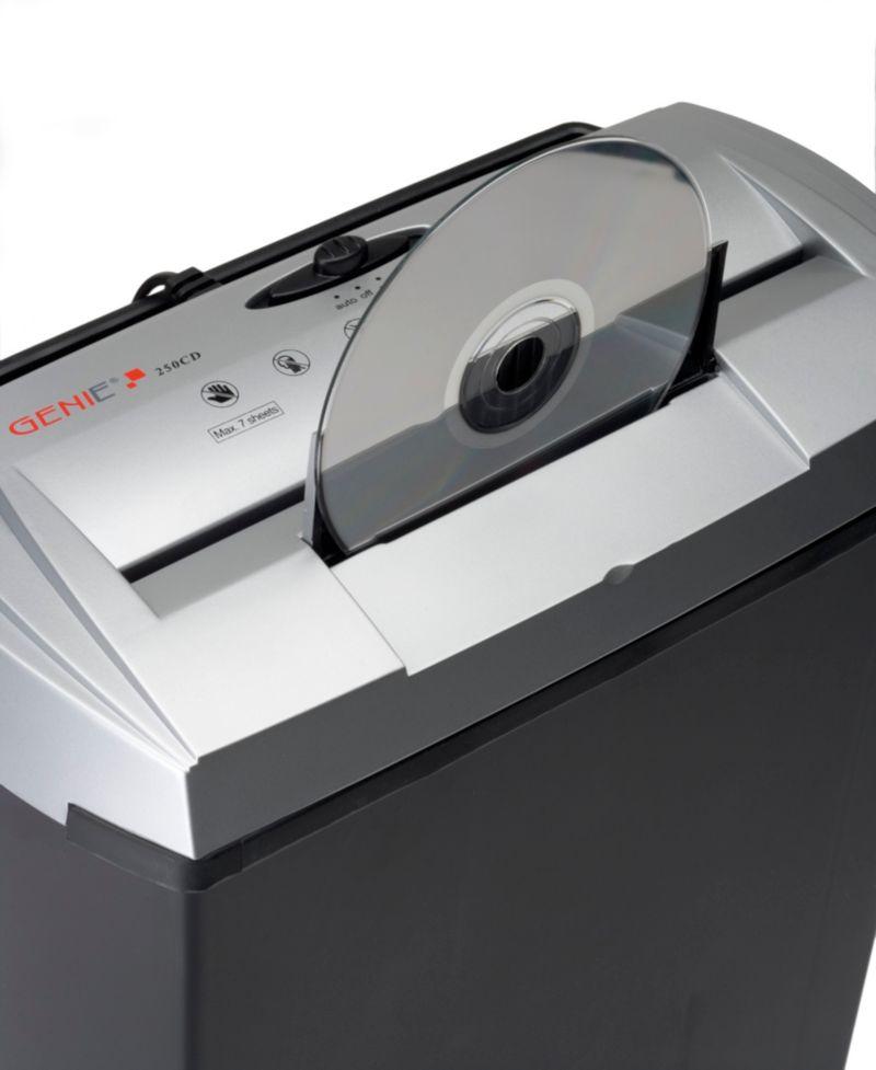 GENIE 250 CD Aktenvernichter - schwarz/silber