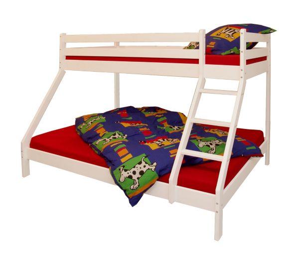 etagenbett katamaran iii kiefer massiv wei lackiert hochbett doppelstockbett ebay. Black Bedroom Furniture Sets. Home Design Ideas