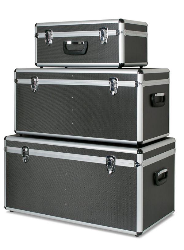 aluboxen 3er set boxen beh lter alukiste kisten alubox brb lagertechnik ebay. Black Bedroom Furniture Sets. Home Design Ideas