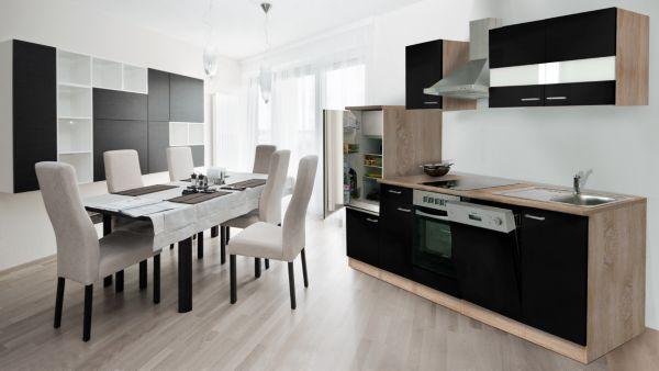 k chenzeile 280 cm eiche sonoma s gerau nb k che k chenblock zeile ebay. Black Bedroom Furniture Sets. Home Design Ideas